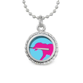 Mitts The Softball Dog SportSNAPS Necklace
