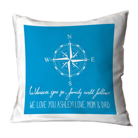 Personalized Throw Pillow - Wherever You go