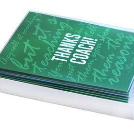 Thanks Coach - MySPORT Card (Green Lombardi Quote) - Box Set of 12
