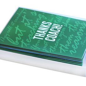 Thanks Coach - MySPORT Card (Green Lombardi Quote) - Box Set of 12
