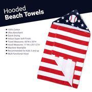 Baseball Hooded Towel - American Flag