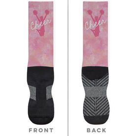 Cheerleading Printed Mid-Calf Socks - Cheer Girl