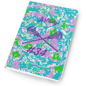 Girls Lacrosse Notebook Flower Power