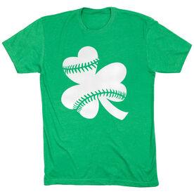 Softball Tshirt Short Sleeve Shamrock Softball Stitches
