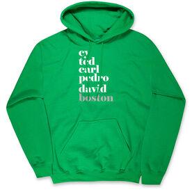 Baseball Hooded Sweatshirt - FANtastic-Boston