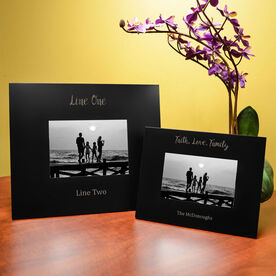 Personalized Engraved Picture Frame - Custom Message