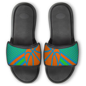 Basketball Repwell® Slide Sandals - Basketball Dots