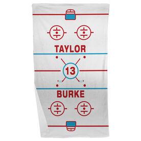 Hockey Beach Towel Personalized Ice Rink