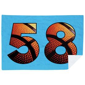 Basketball Premium Blanket - Custom Basketball Numbers