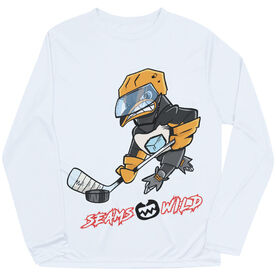 Seams Wild Hockey Long Sleeve Tech Tee - Chinstrap