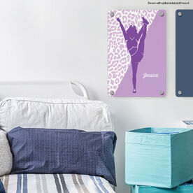 "Cheerleading 18"" X 12"" Aluminum Room Sign - Personalized Cheerleader Silhouette"