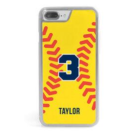 Softball iPhone® Case - Personalized Stitches Illustration