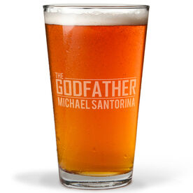 Personalized 16 oz. Beer Pint Glass - The Godfather