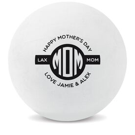 Personalized Mother's Day Lacrosse Ball (White Ball)