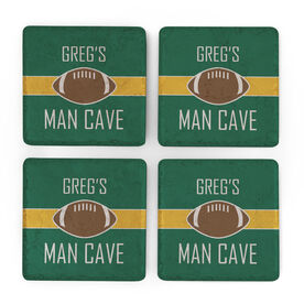 Football Stone Coasters Set of Four - Man Cave