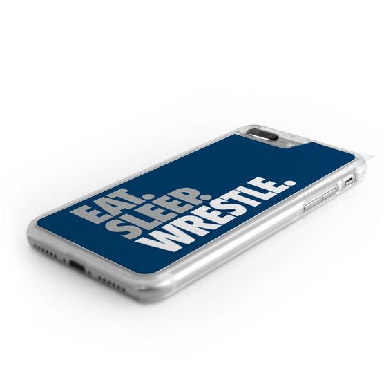 Wrestling iPhone® Case - Eat Sleep Wrestle (Stacked)