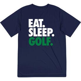 Golf Short Sleeve Performance Tee - Eat. Sleep. Golf.