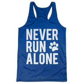 Women's Racerback Performance Tank Top - Never Run Alone (Bold)