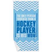 Hockey Premium Beach Towel - Tougher Than A Player