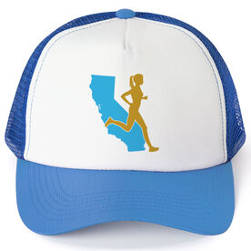 Running Trucker Hat - California Female Runner