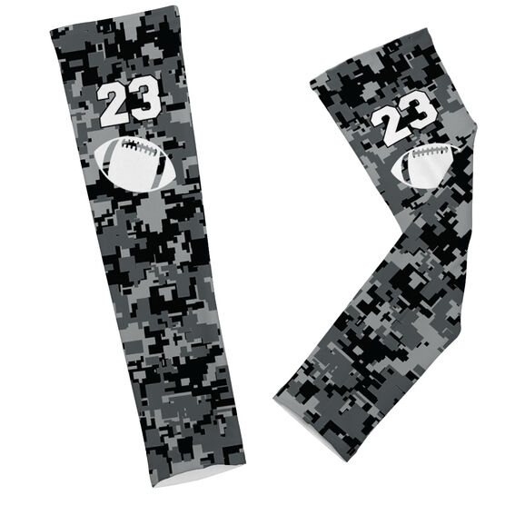 Football Printed Arm Sleeves Football Digital Camo with Number