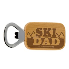 Skiing Maple Bottle Opener Ski Dad
