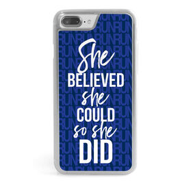 Running iPhone® Case - She Believed She Could So She Did (Run)