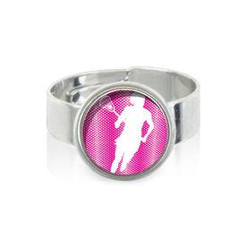 Lacrosse Girl Silhouette SportSNAPS Ring