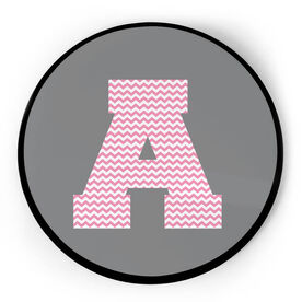 Personalized Circle Plaque - Initial With Chevron