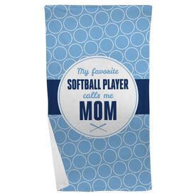 Softball Beach Towel My Favorite Player