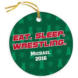 Wrestling Porcelain Ornament Eat Sleep Wrestling