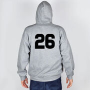 Guys Lacrosse Hooded Sweatshirt - Max The Lax Dog