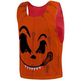 Guys Lacrosse Pinnie - Pumpkin Face