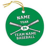 Baseball Porcelain Ornament Custom Baseball Team