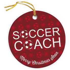 Soccer Porcelain Ornament Coach Ball