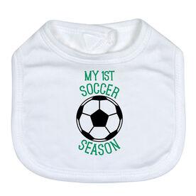 Soccer Baby Bib - My First Soccer Season