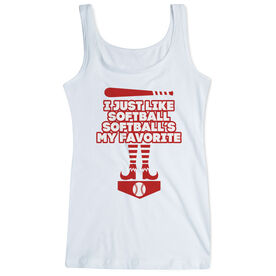Softball Women's Athletic Tank Top - Softball's My Favorite