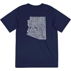 Men's Running Short Sleeve Tech Tee - Arizona State Runner
