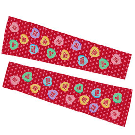 Running Printed Arm Sleeves - Candy Hearts