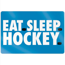 "Hockey 18"" X 12"" Aluminum Room Sign - Eat Sleep Hockey"