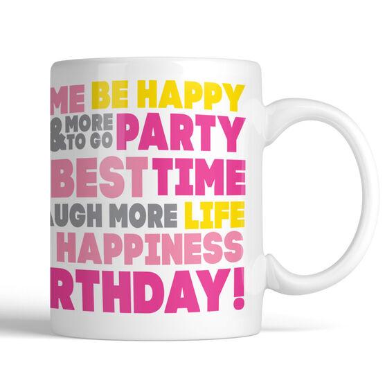 Birthday Words Personalized Coffee Mug