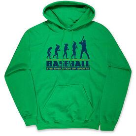 Baseball Hooded Sweatshirt - Evolution of Baseball