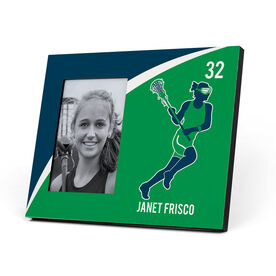 Girls Lacrosse Photo Frame - Personalized Girls Lacrosse Player