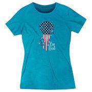 Girls Lacrosse Women's Everyday Tee - Patriotic Lax Girl
