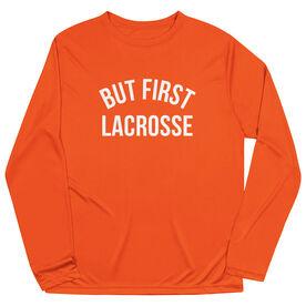 Lacrosse Long Sleeve Performance Tee - But First Lacrosse