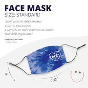 Cheerleading Face Mask - Cheer Heart with Tie-Dye