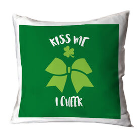 Cheer Throw Pillow Kiss Me I Cheer