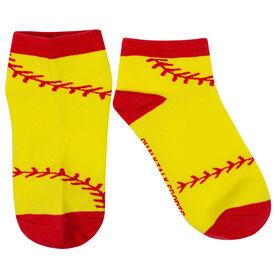 Softball Ankle Socks - Softball Stitches