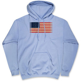 Hockey Hooded Sweatshirt - Hockey Laces Flag