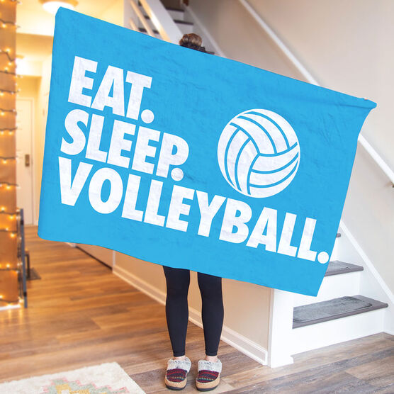 Volleyball Premium Blanket - Eat. Sleep. Volleyball. Horizontal